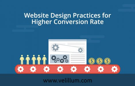 Website design practice for higher conversion rate