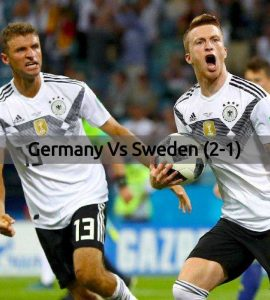 Germany Vs Sweden - FIFA World Cup 2018