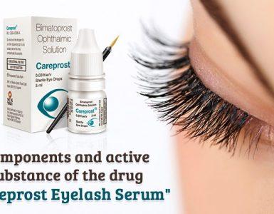 careprost eyelash serum for long eyelashes
