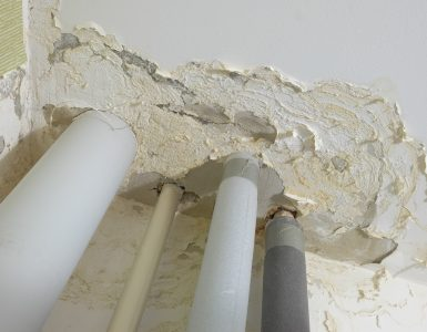 damaged by the floods ceiling apartments