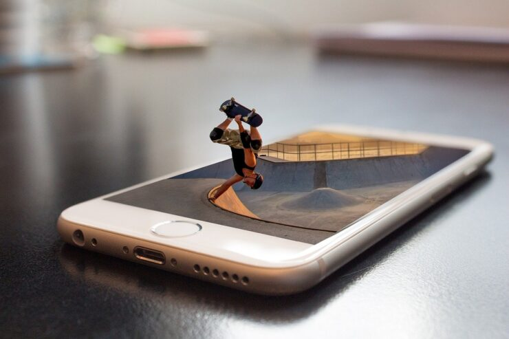 movie on iphone device