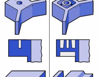 Plastic molding guide